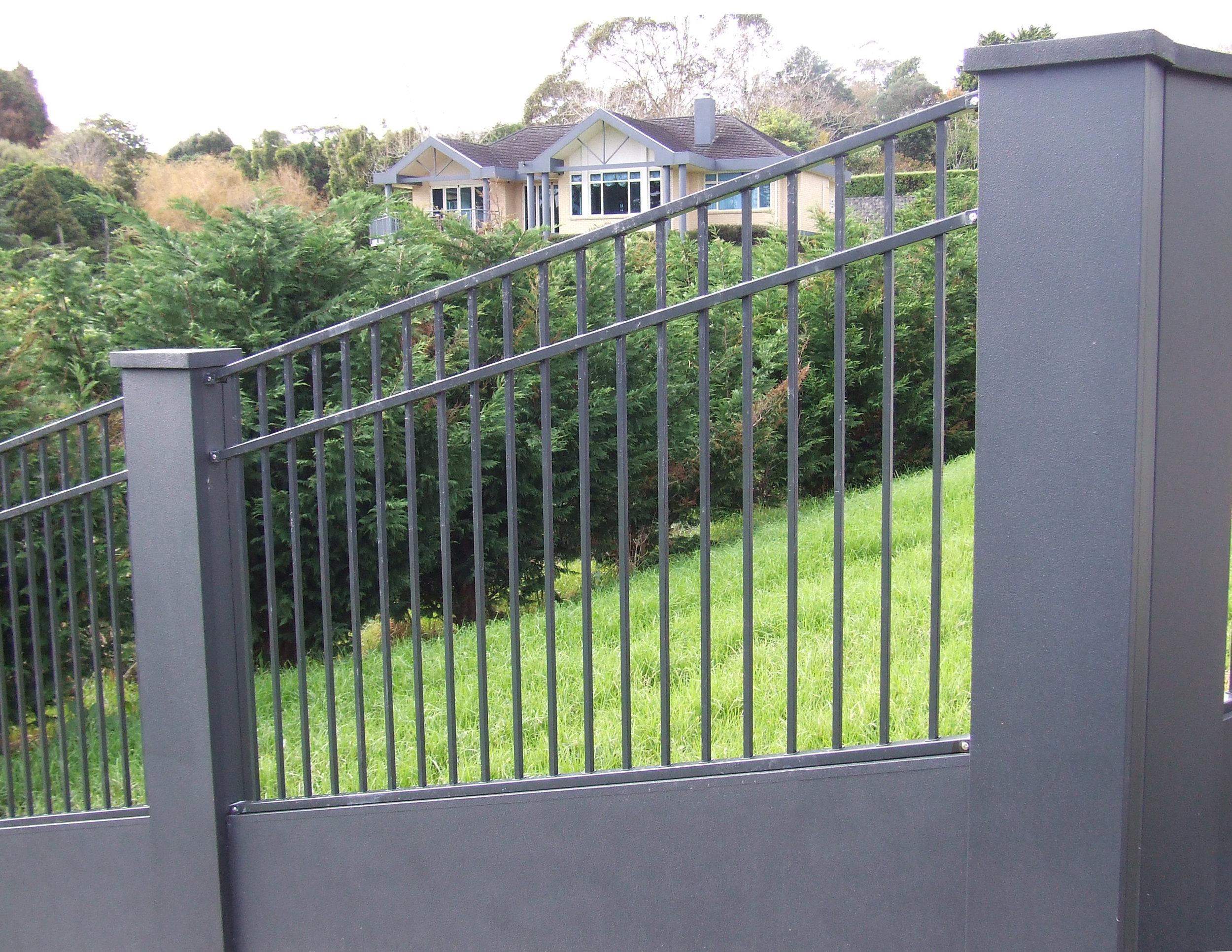 (17) Raked steel panel between plastered steel