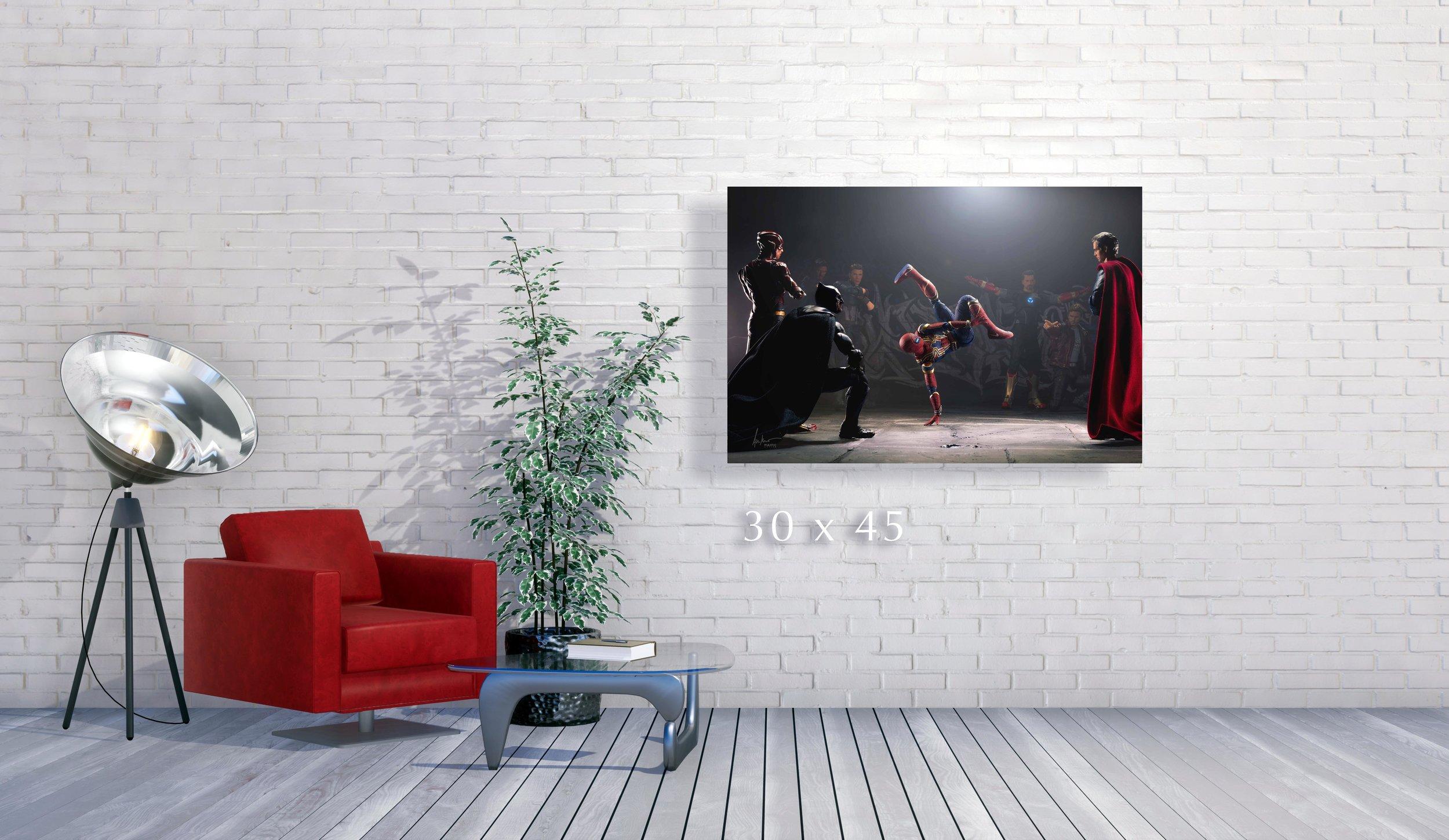 Copy of Minimalist interior with empty white brick wall 3D