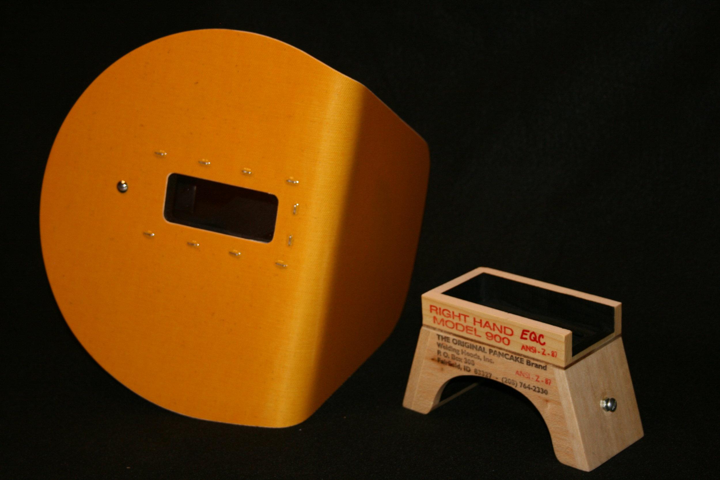 The Original Pancake Welding Hood w// Strap Right Handed