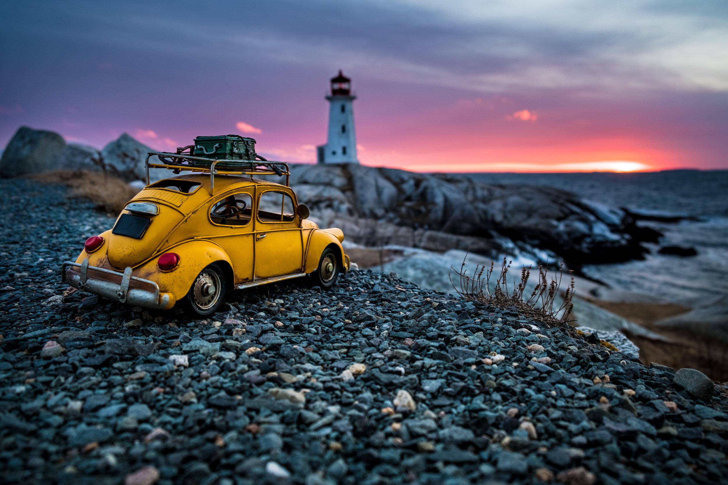 VDub_Willie at Peggy's Cove, Nova Scotia.