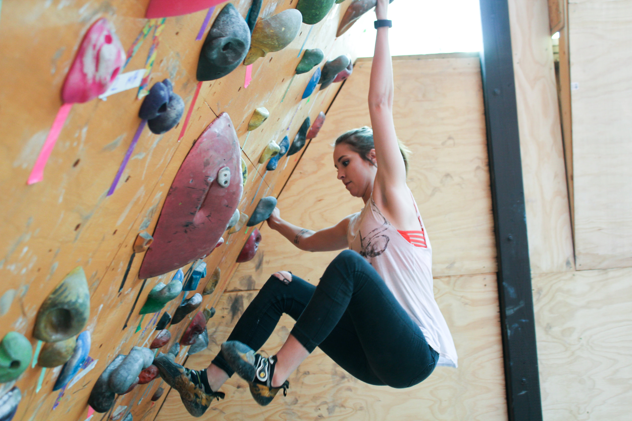 Push Yourself to the Max   Climbing is a great workout, and an even better stress reliever.   Start your next adventure!