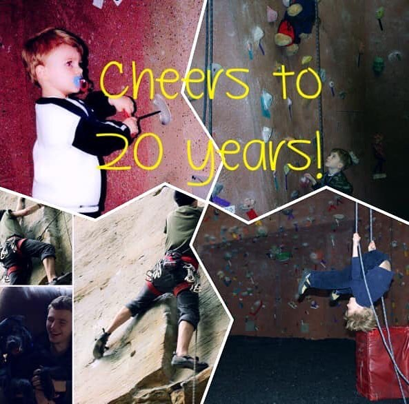 Cheers to 20 years!  Nicholas will be turning 20 on March 20th!  He will be working so stop by to climb and celebrate his golden birthday with us! #climbon #indoorrockclimbing #climbinggym #climbing #rockclimbing #happybirthday #20years #goldenbirthday #comeclimbwithus