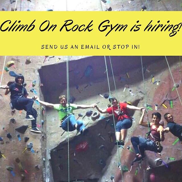 Climb on is hiring!! No experience necessary, we'll teach you! Looking for anyone without commitments after 4pm on weekdays or noon on weekends. #climbing #rockclimbing #rockgym #indoorrockclimbing #homewood #illinois #hiring #comeclimbwithus