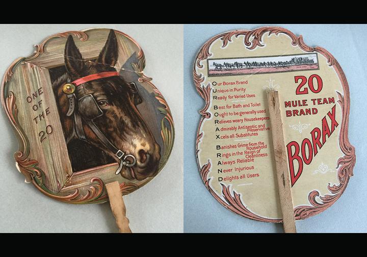 20 Mule Team Borax Soap Promotional Fan