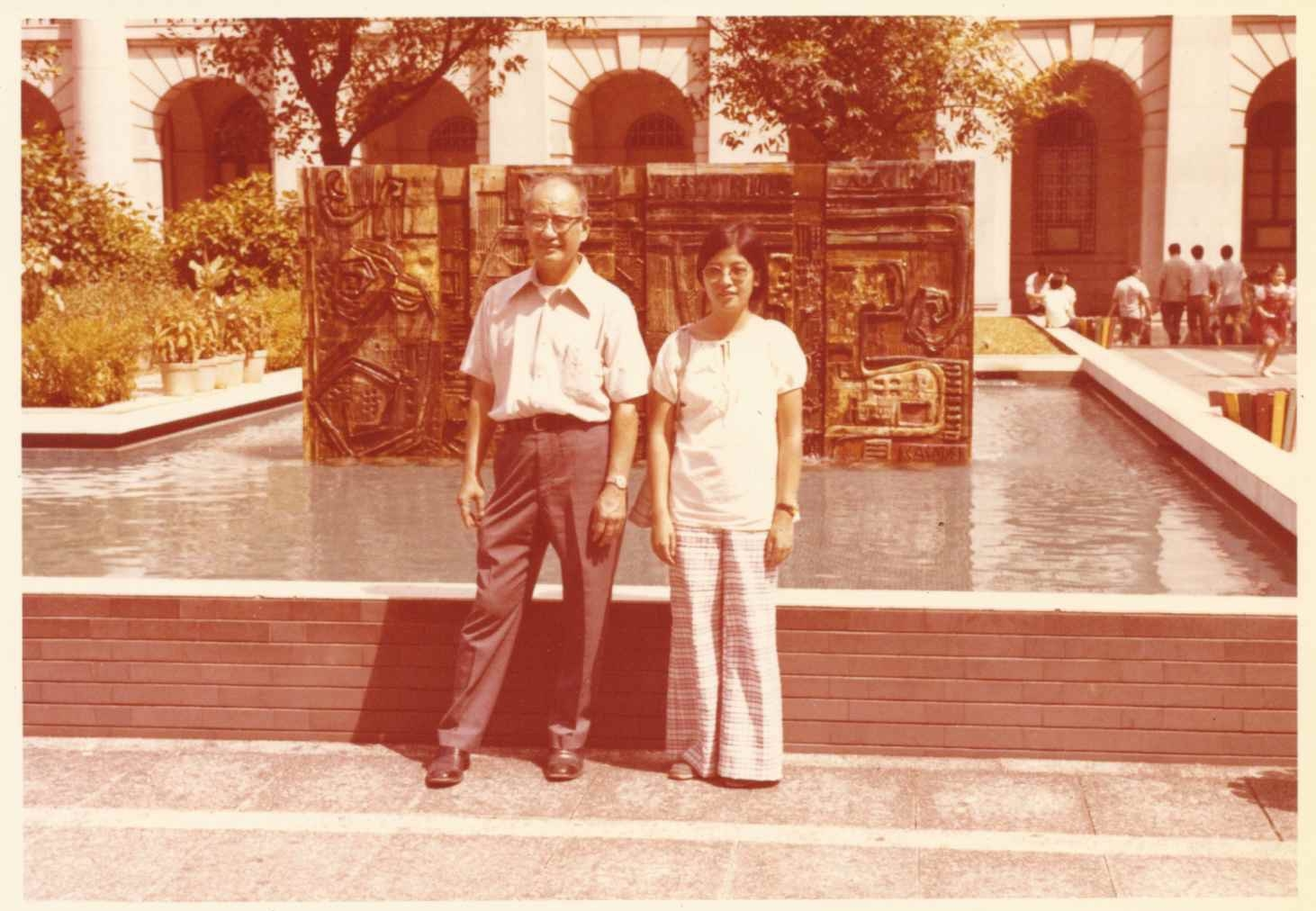 Cynthia at 24 with her uncle in Hong Kong during their trip to China to visit his family.  Photo courtesy of Cynthia Yee.