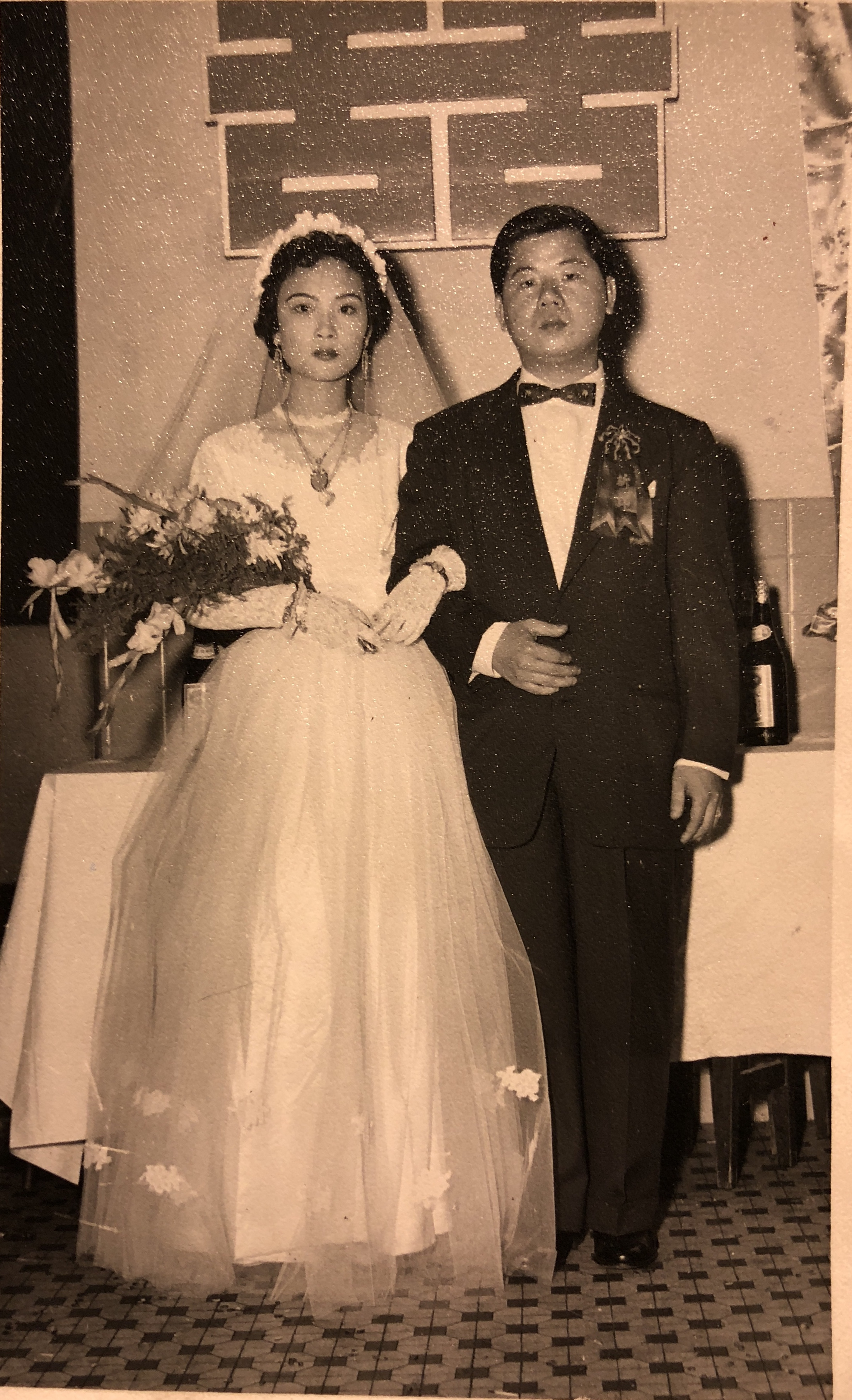 Cynthia's second sister in law,Yu Ching and her paper brother, David Yee, Hong Kong, 1959