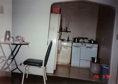 Pictured: Her apartment on Hudson Street.