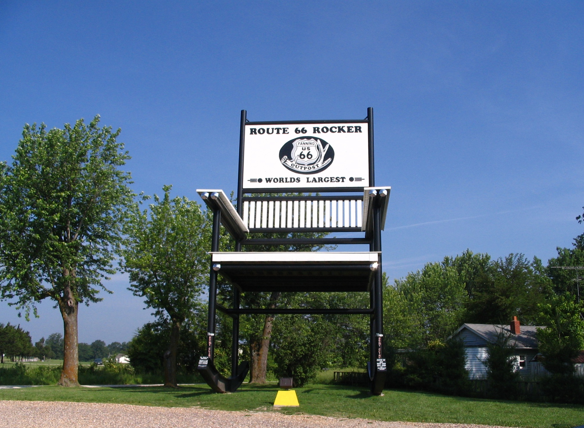 Fun Fact: The Guiness World's Largest Rocking Chair is found along Route 66 in Fanning, Missouri.