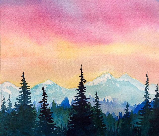 Sun Valley Friends!! We had so much fun last time we're doing another Brushes and Brews Watercolor Workshop at @sawtoothbrewery in Hailey in August 17th!!! We'll be painting this lovely mountain scene. As always, this is a beginner friendly class and fun is the name of the game. Grab your friends, your SO or come by yourself and have a beer and some snacks while we enjoy an afternoon of painting :) Link to tickets on my website. Link in Bio.