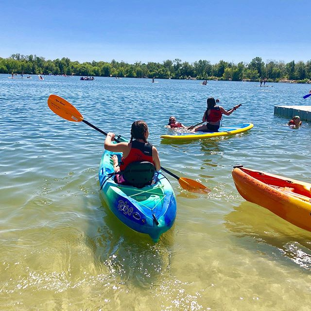 Spent Saturday with a gaggle of teen girls teaching them to kayak and SUP with @wildheartsidaho  Thank you to @idahoriversports for providing all the gear and being such helpful, cool people. Couldn't have pulled this off without you.