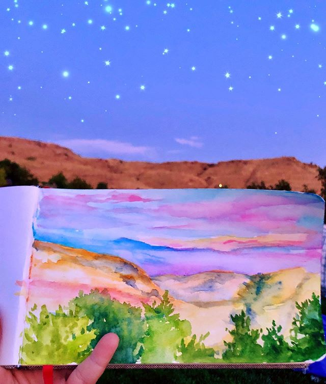 Blurry photo from painting at the Lord Huron concert last night. The sun was setting and the music was intoxicating so I whipped this out really quickly. I hadn't painted in a few weeks and I was losing the light fast but it felt really good to paint again. And hey, its about doing it more than what it looks like. Or so I tell myself.