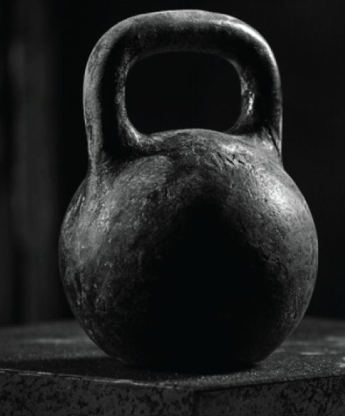 The typical shape of a Kettle bell