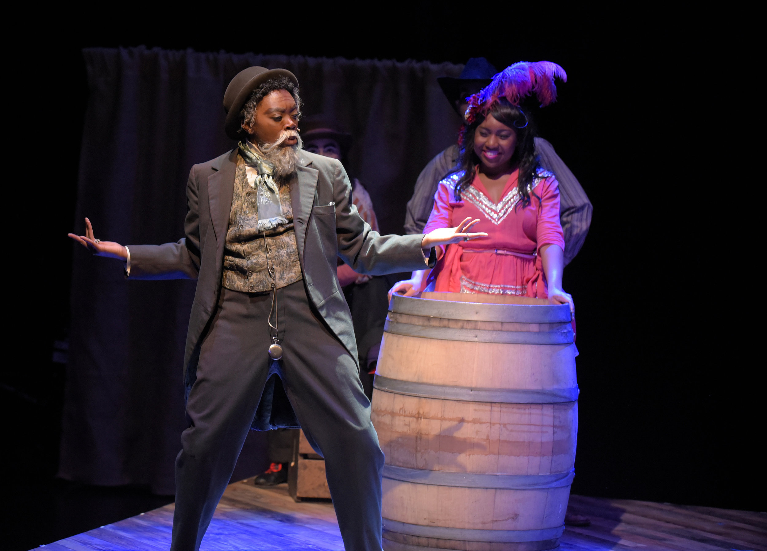 Akilah A. Walker as 'Gremio' in 'The Taming of the Shrew'  Photo by Alessandra Mello