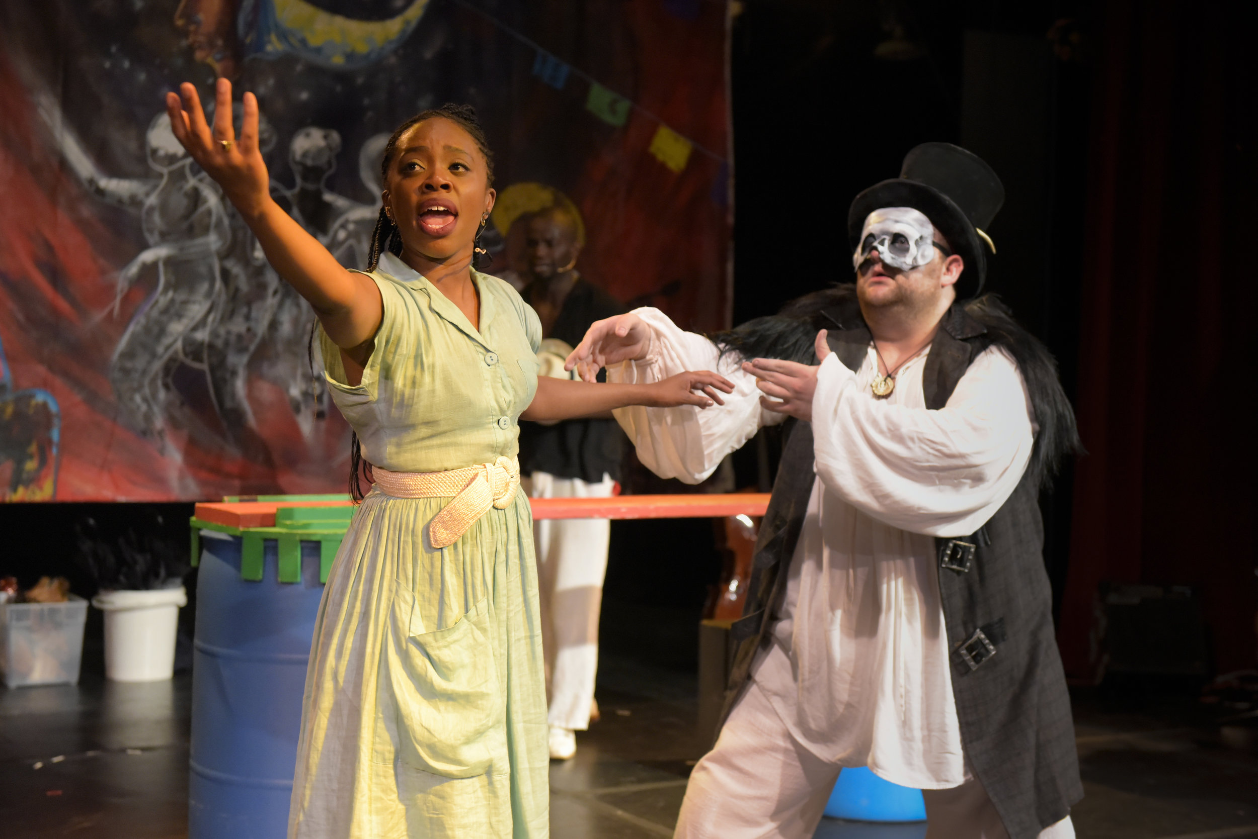 Akilah A. Walker as Eurydice in 'Black Orpehus'  Photo by Alessandra Mello