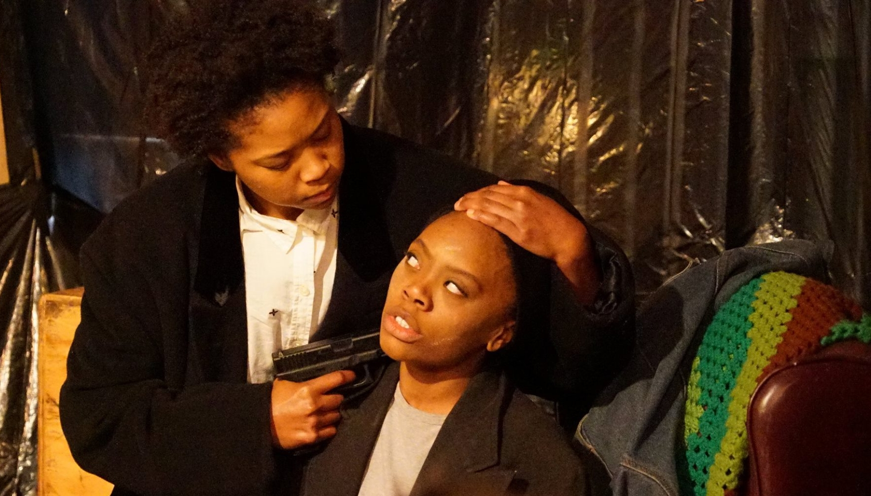 Akilah A.Walker as 'Lincoln' in Topdog/Underdog  Photo by Jay Yamada