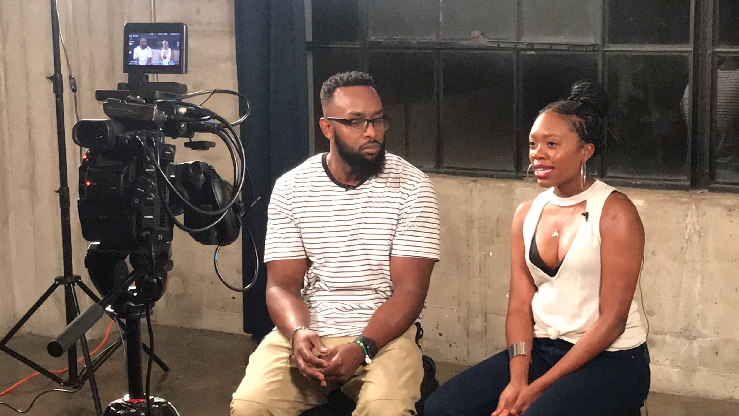 Akilah A. Walker and Khomari Flash in behind-the scenes interviews for their co-directorial debut 'Broke Brie'
