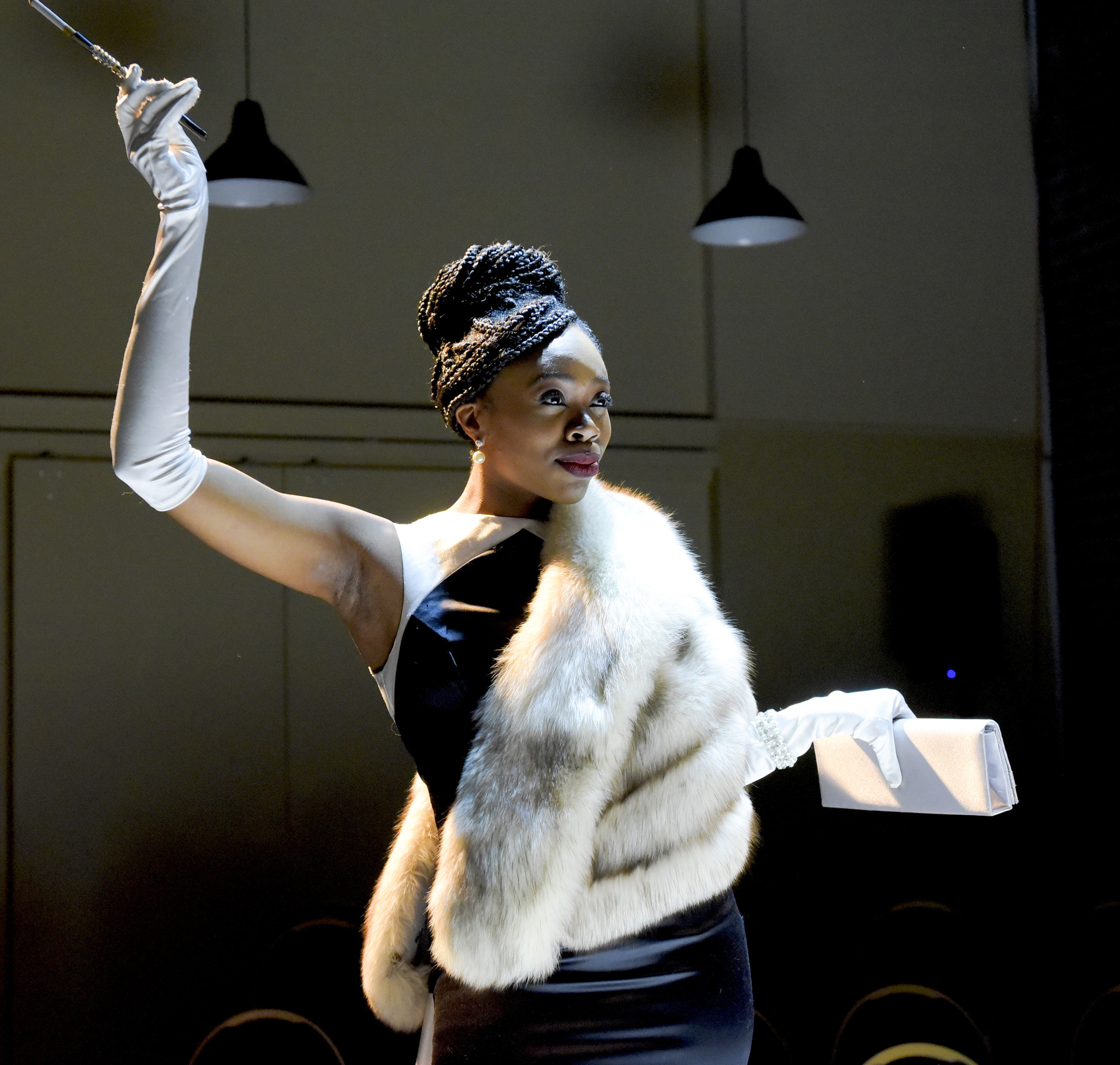 Akilah A. Walker in 'Through With Love' a musical revue