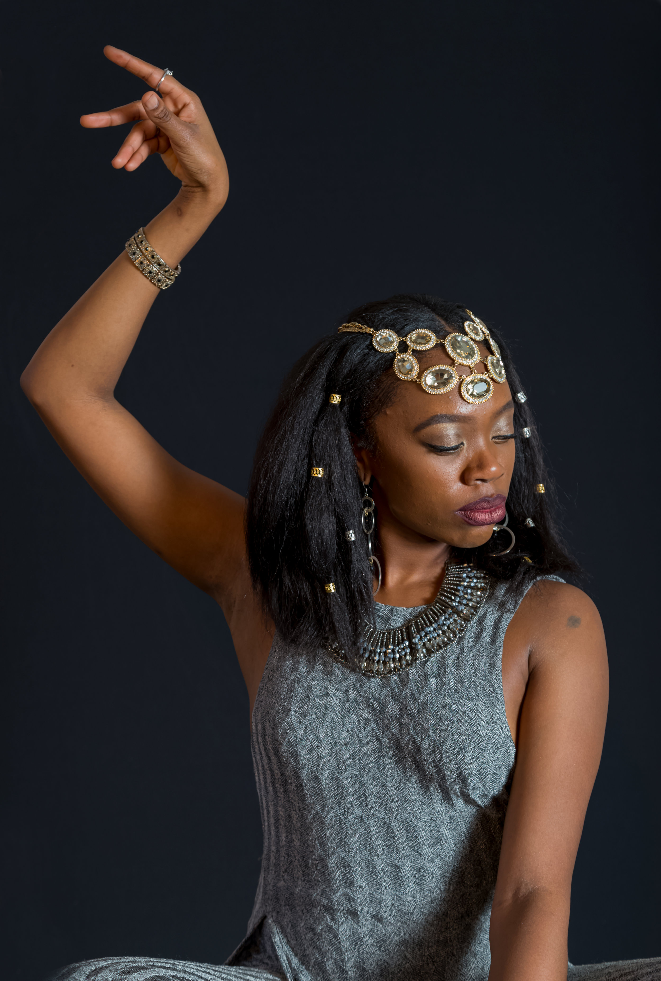 Akilah A. Walker as 'Cleopatra' in 'Antony and Cleopatra' by William Shakespeare