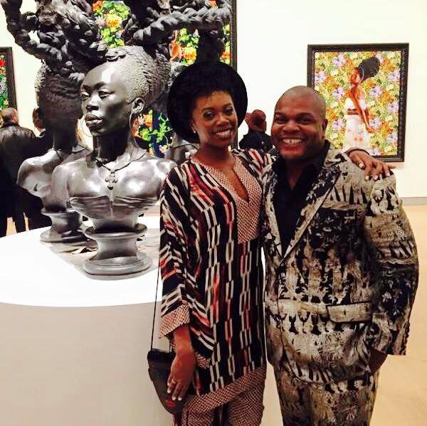 Kehinde Wiley & Akilah Walker at Brooklyn Museum for the opening of 'A New Republic', 2015