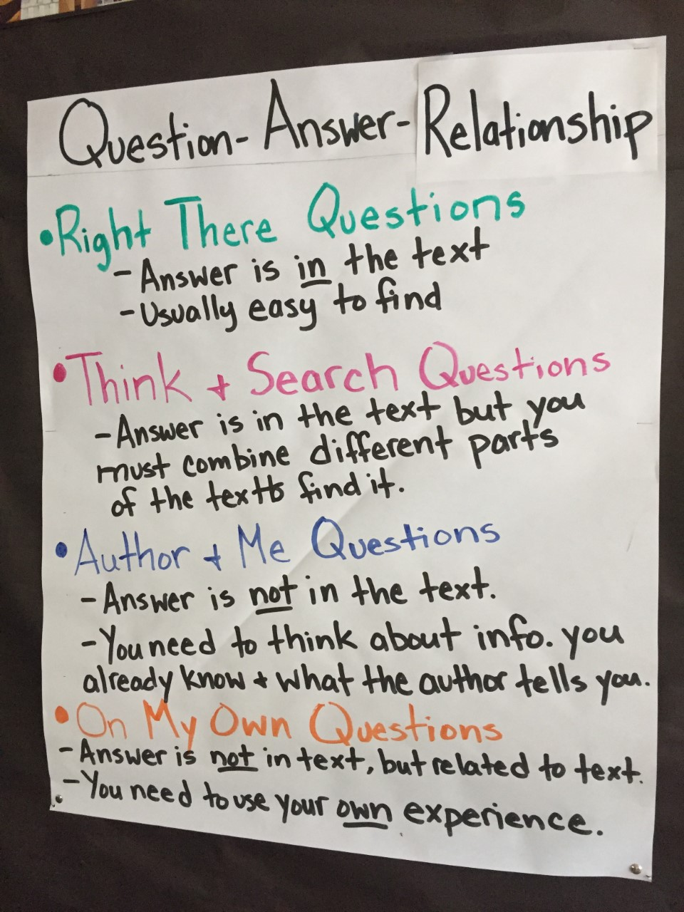 Question-Answer-Relationship