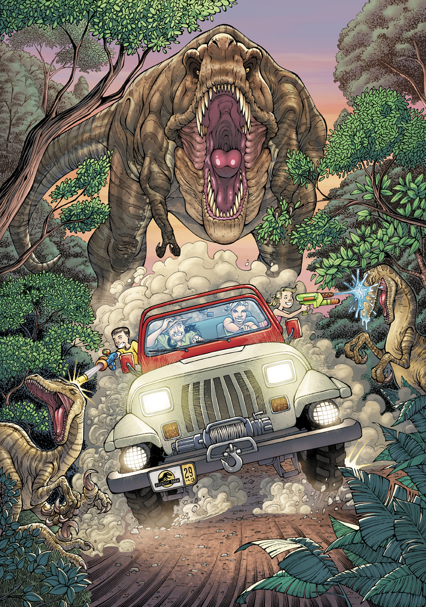 Jurassic Park - Personal Color Commission  Art by  JL Straw