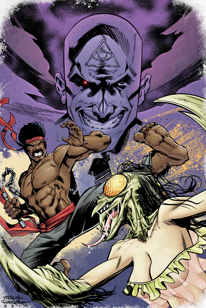 Black Dynamite colors for  Marcelo Ferreira   Art by  Marcelo Ferreira