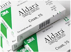 Imiquimod is sold under several trade names including Aldara.