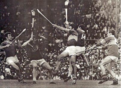 Cork v Tipperary in a Munster championship game, circa 1970
