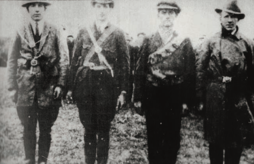 Lorrha IRA: Martin Needham, Jim Carroll, unknown, Felix Cronin.  Photo: Nancy White