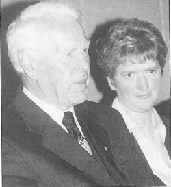 Seamus O'Riain who launched the GAA history 'The Burgess Story' with author Bridget Delaney at Kilcolman GAA Complex, home of Burgess GAA Club, on November 22nd, 2001