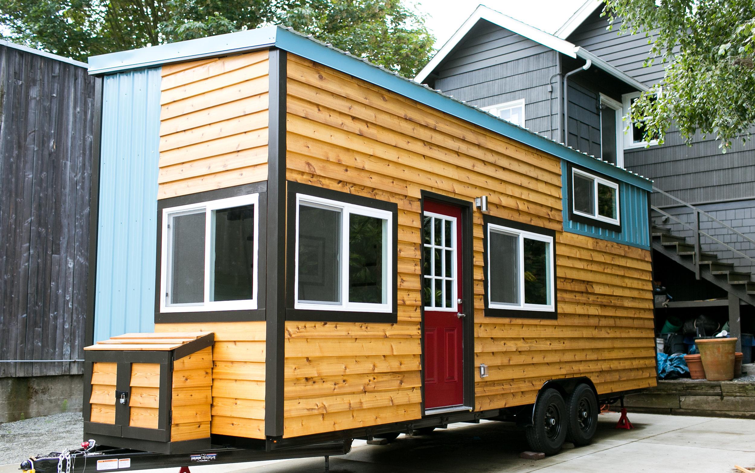 Combination of metal and Cedar siding
