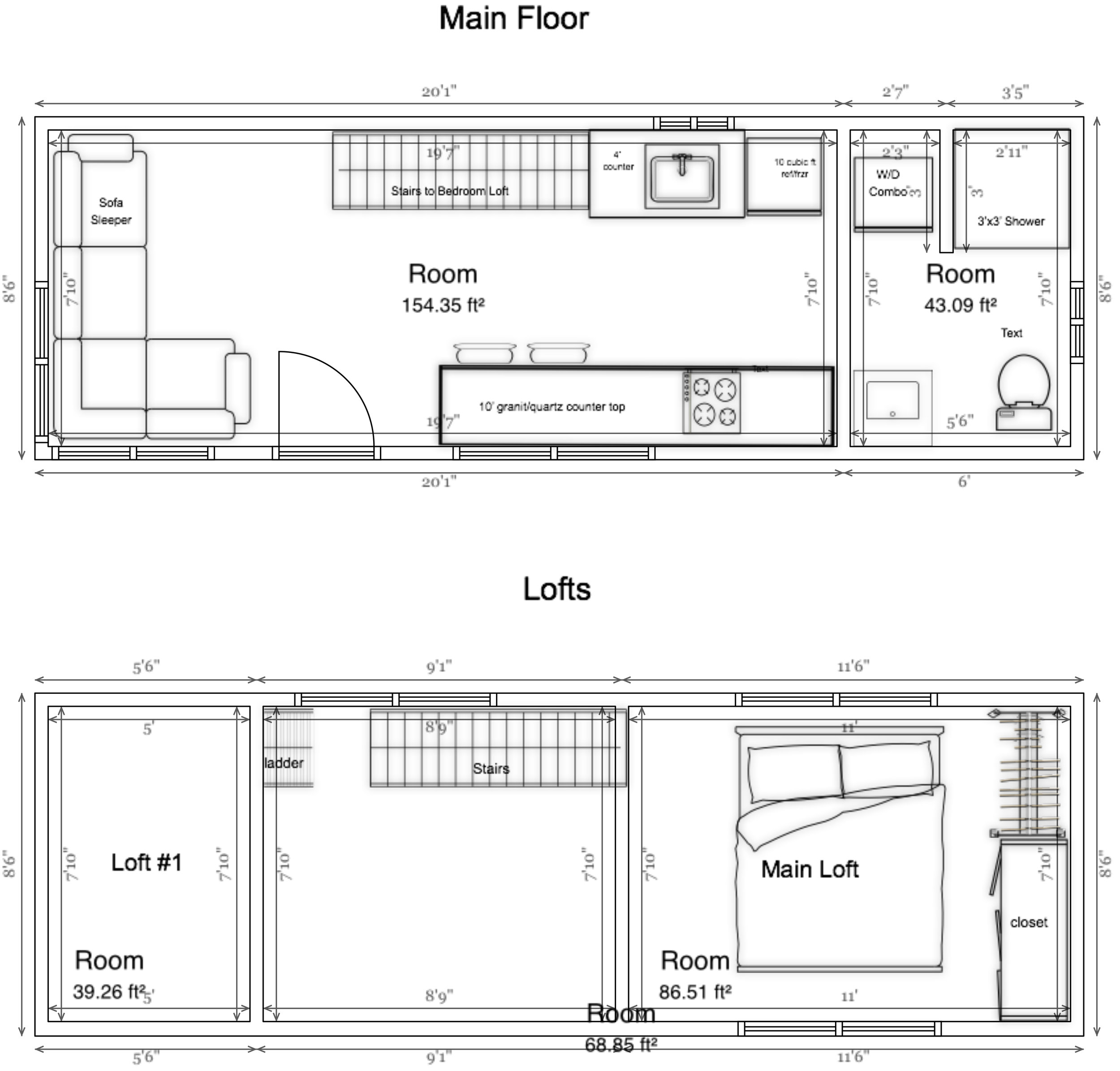 iron eagle trailers trailer plug wiring diagram 7 specs     big freedom tiny homes  specs     big freedom tiny homes