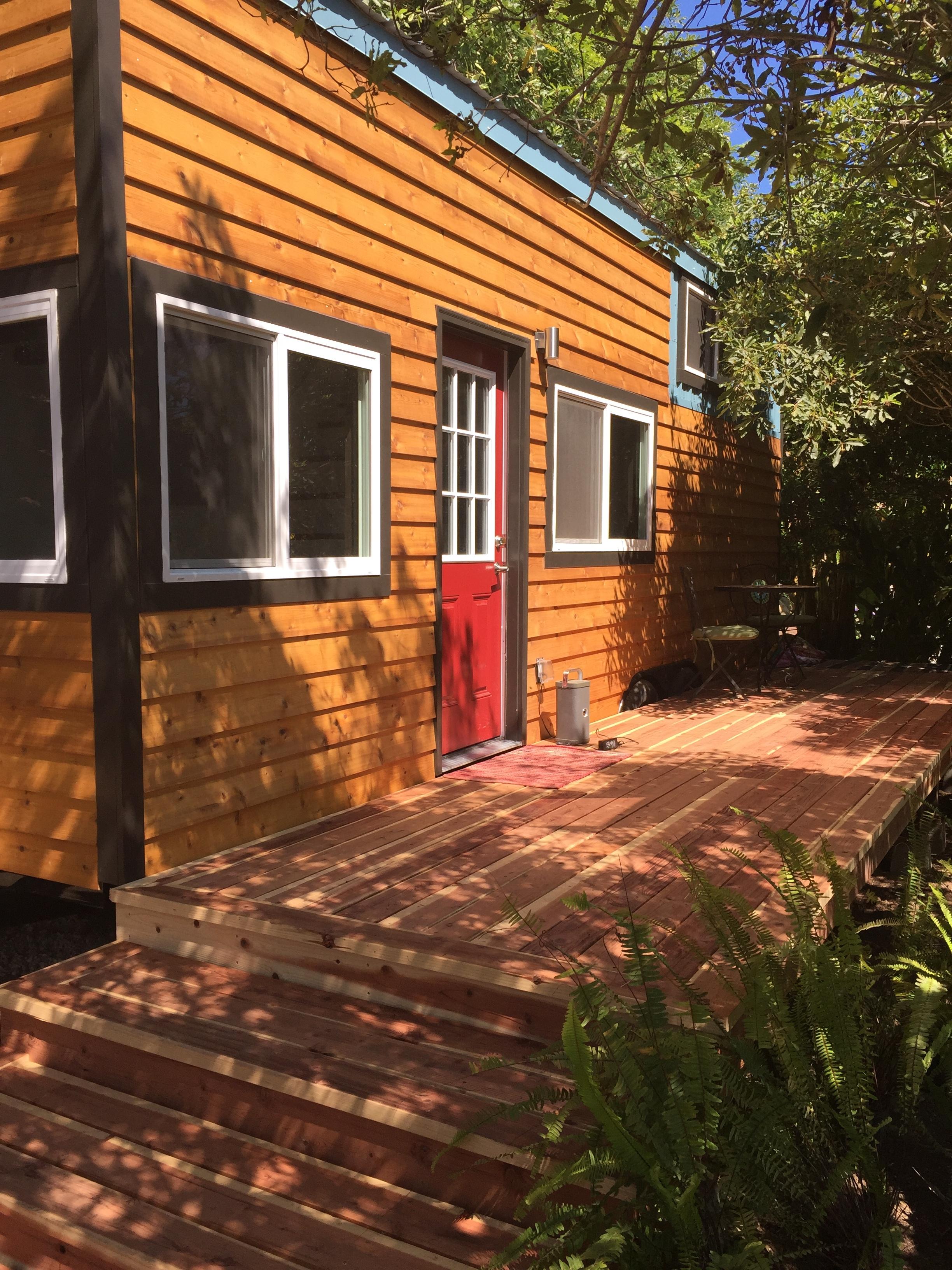 Customer built deck