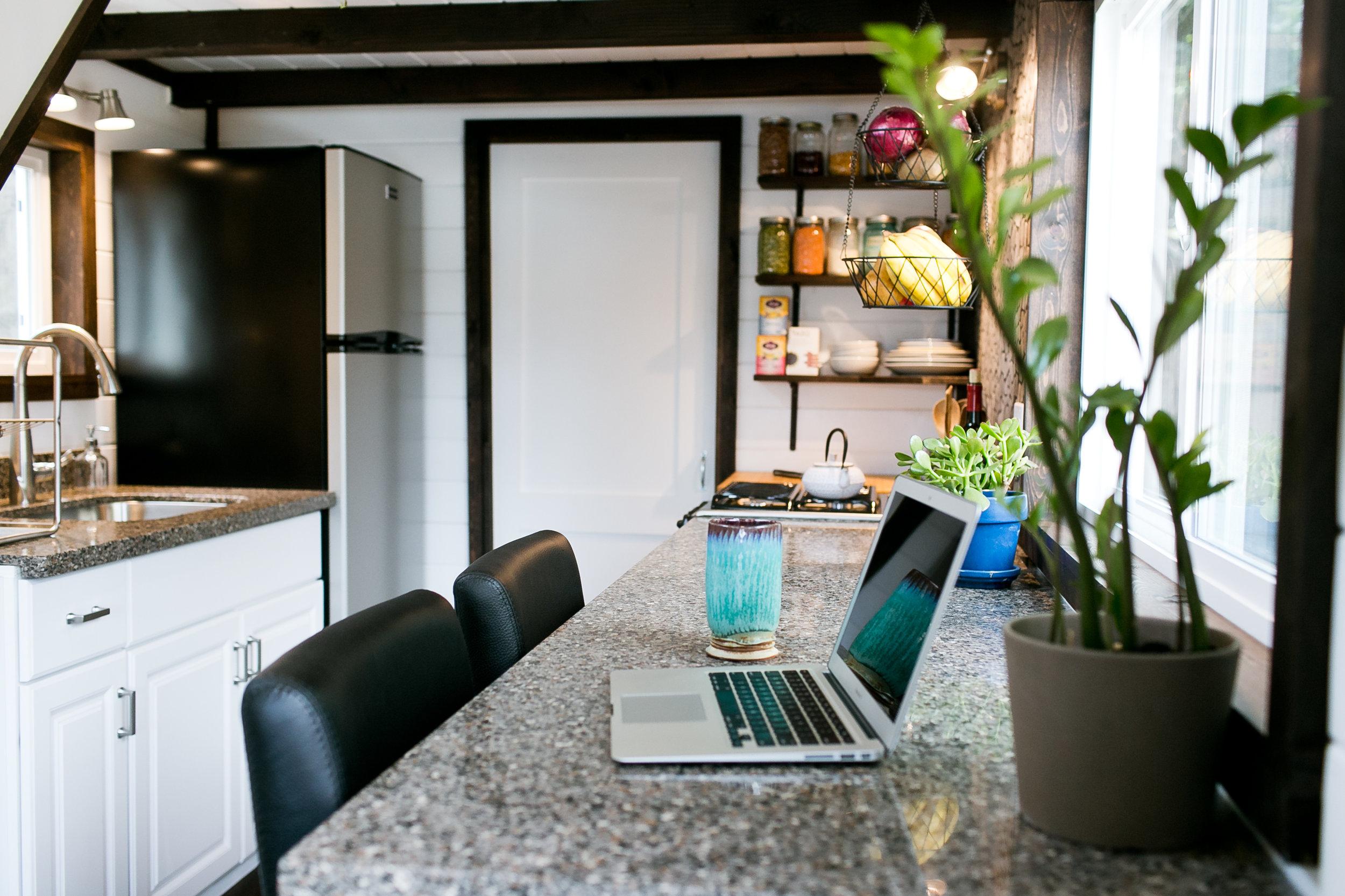 Large 10' granite/quartz counter work space