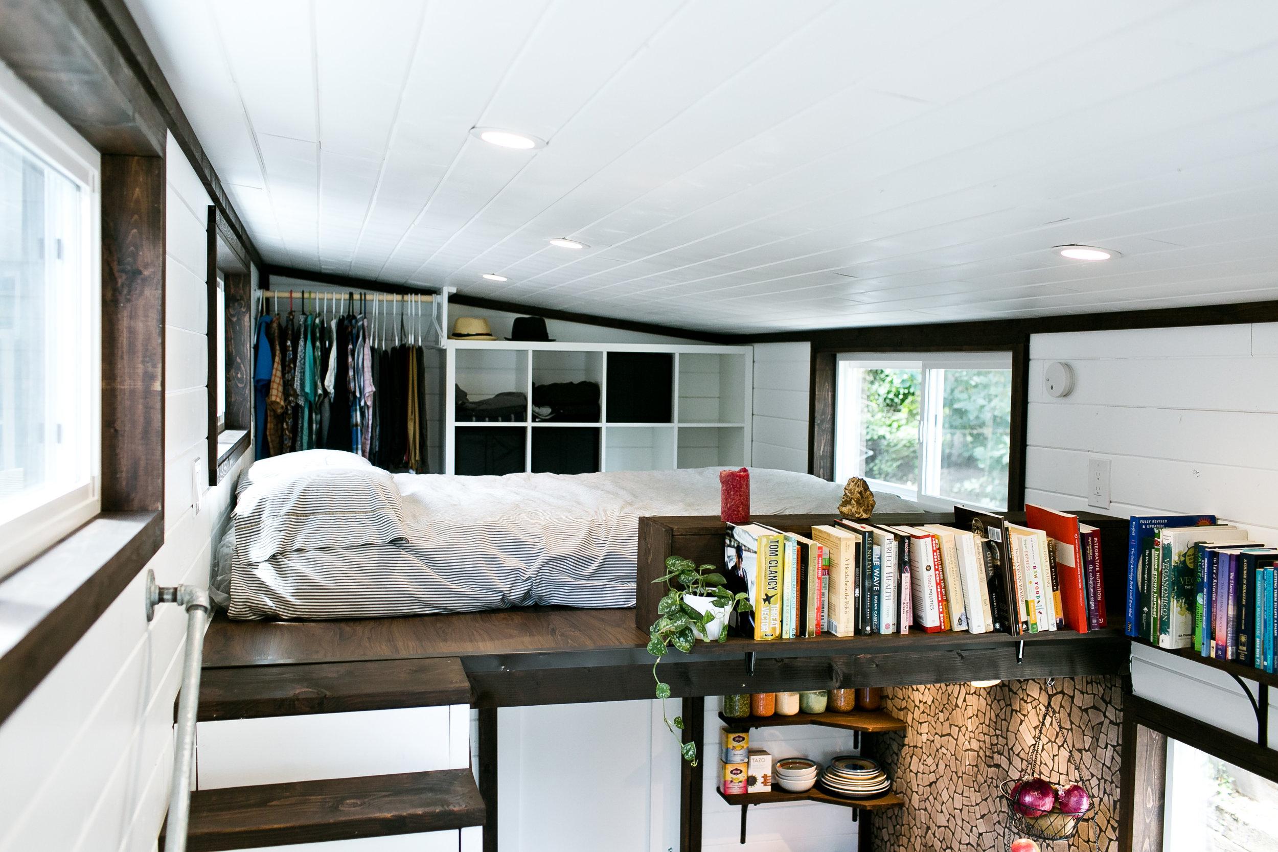 11' deep bedroom loft with 4' of head space