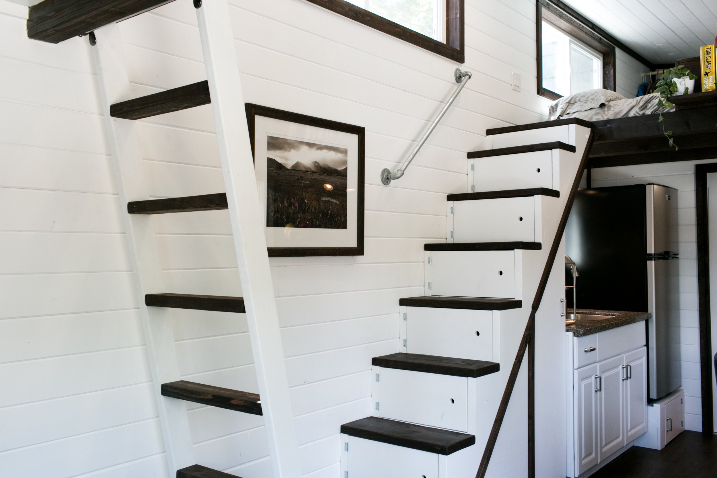 Matching ladder and stairs look great