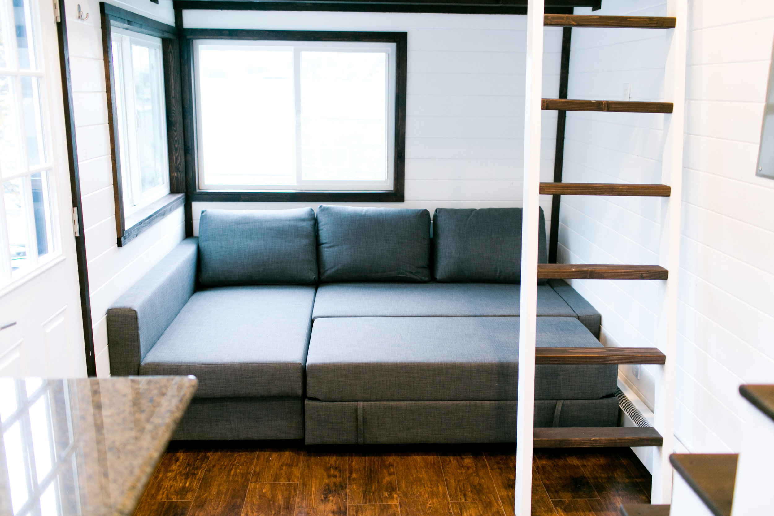 Couch converts into queen size bed