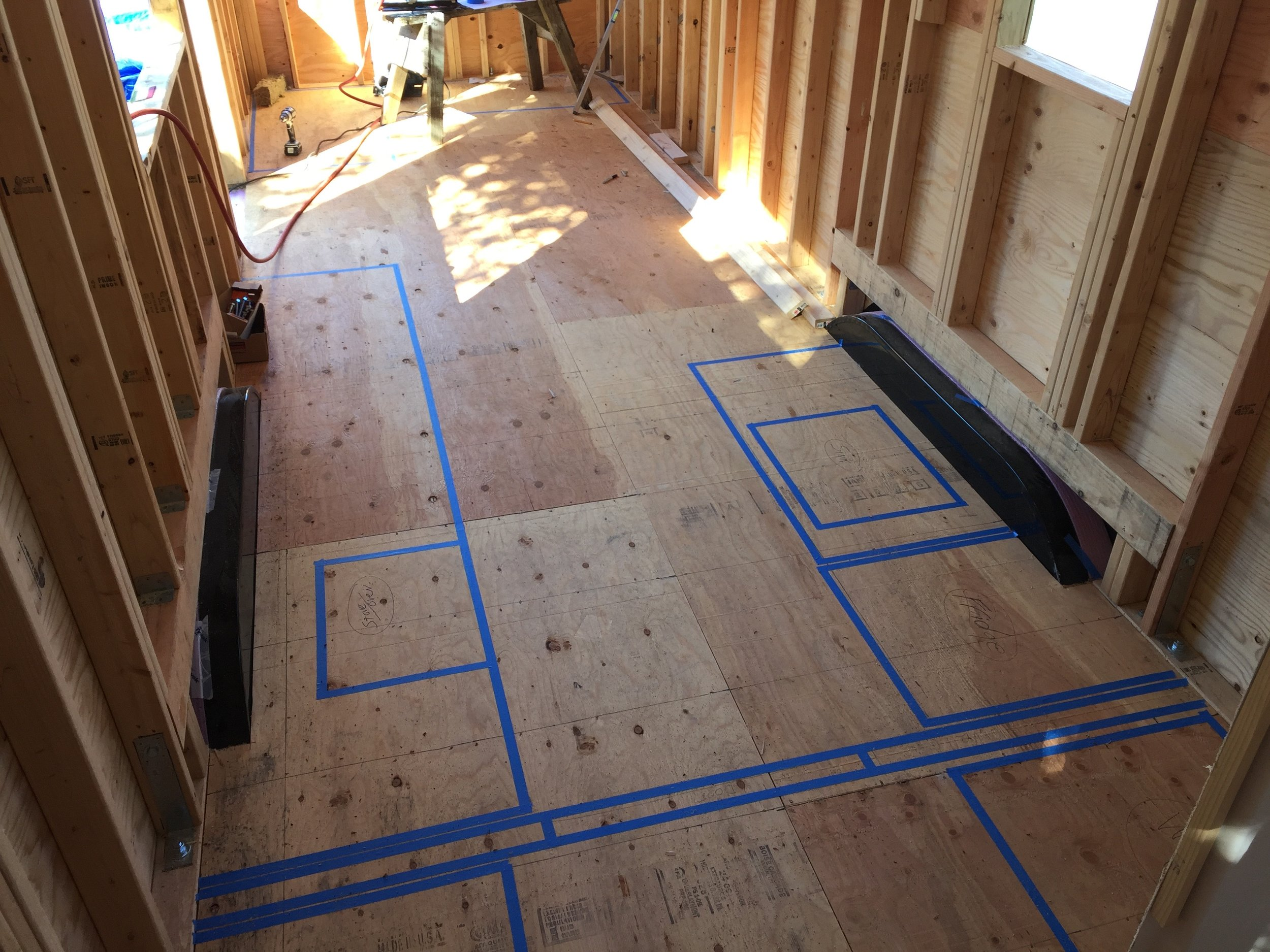 Laying out the floor plan
