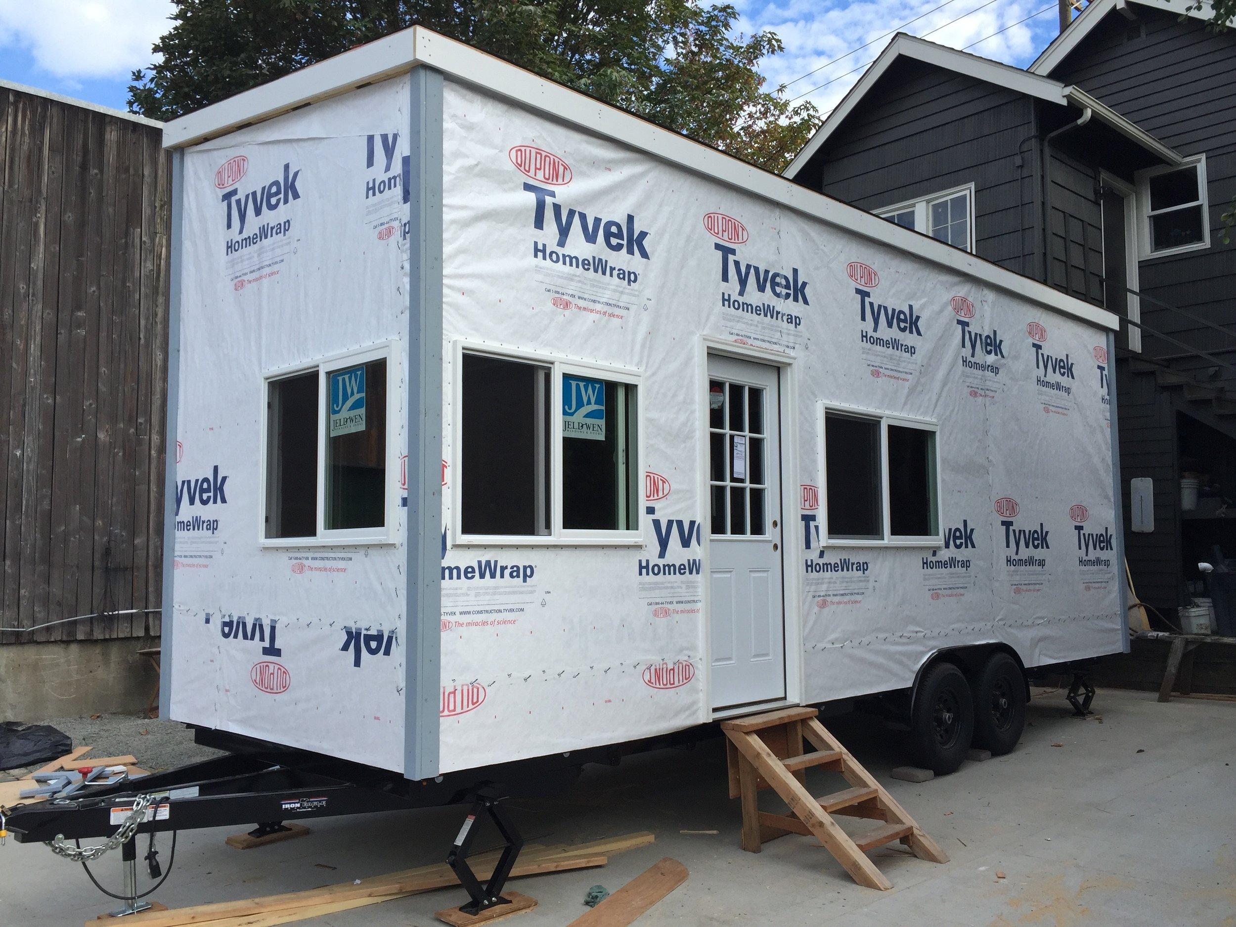 Tyvek house wrap keeps house comfortable