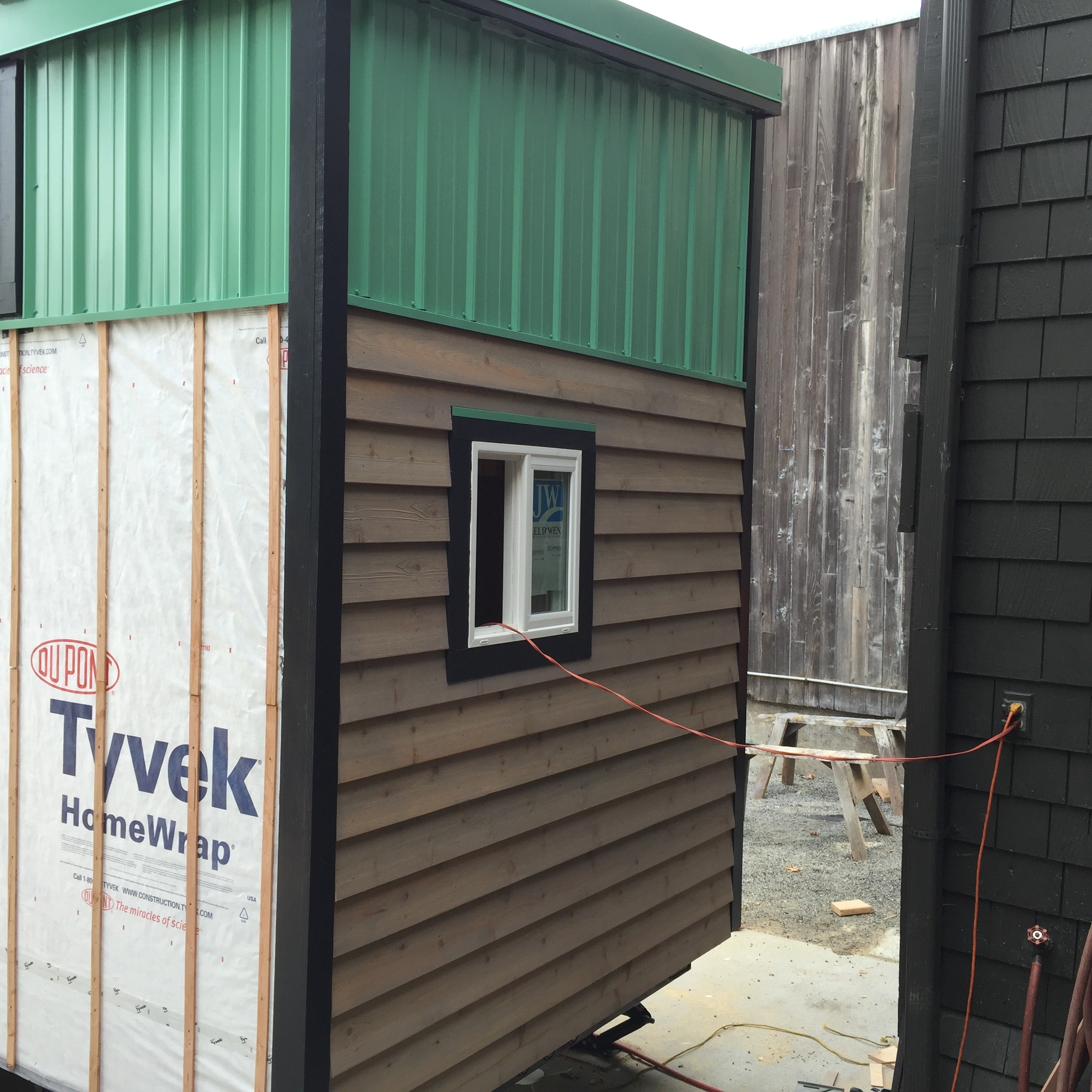 Siding almost complete