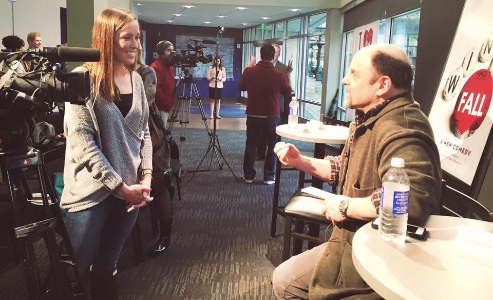 "Interviewing Jason Alexander, famous for 'Seinfeld,' who is directing his first play, ""Windfall."""