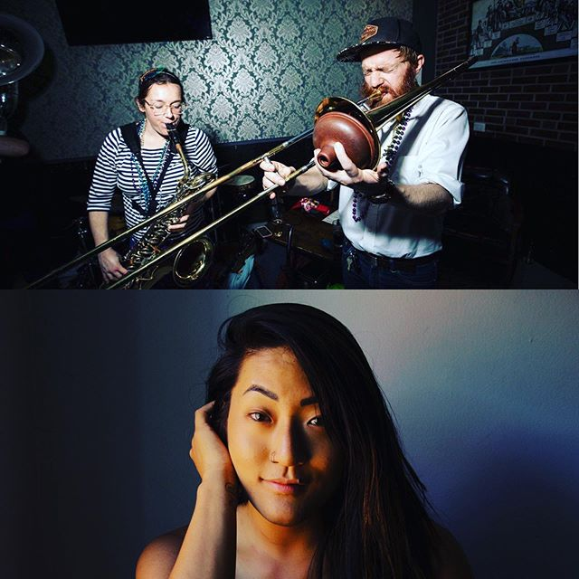 We've got a few special guests joining us this Saturday at Swallow Hill!!! Niki and Luke Tredinnick from @thedollhousethieves will be lending their horns for a tune with us 🎷AND Grace Clark from @graceclark.music will gift us with some beautiful sangin!! 🎼 GOSH DANG IT we are lucky to have such wonderful friends. Don't miss this show, y'all!!! 🎉Venmo us for tickets right MEOW! 😘