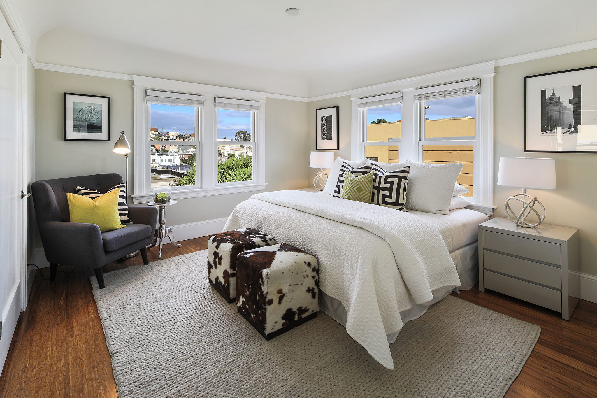 Views of the City and Noe Valley from the Master bedroom.