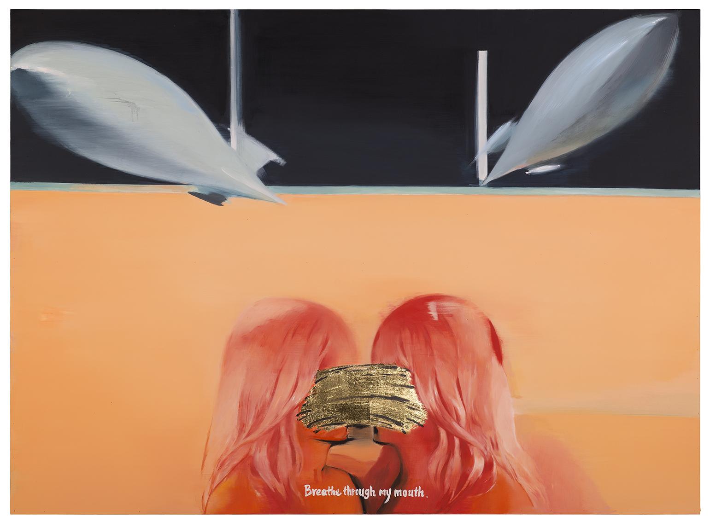 Wu Di, breathe through my mouth 吴笛 我要你在我嘴里呼吸 2015 木板油画 110x150cm.jpg
