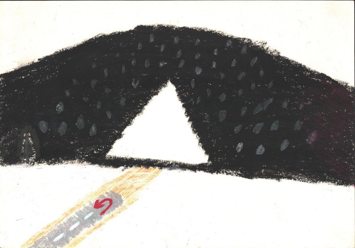 老泉(精神障碍),角落,2014,纸上油画棒,37.5×26.3cm.jpg