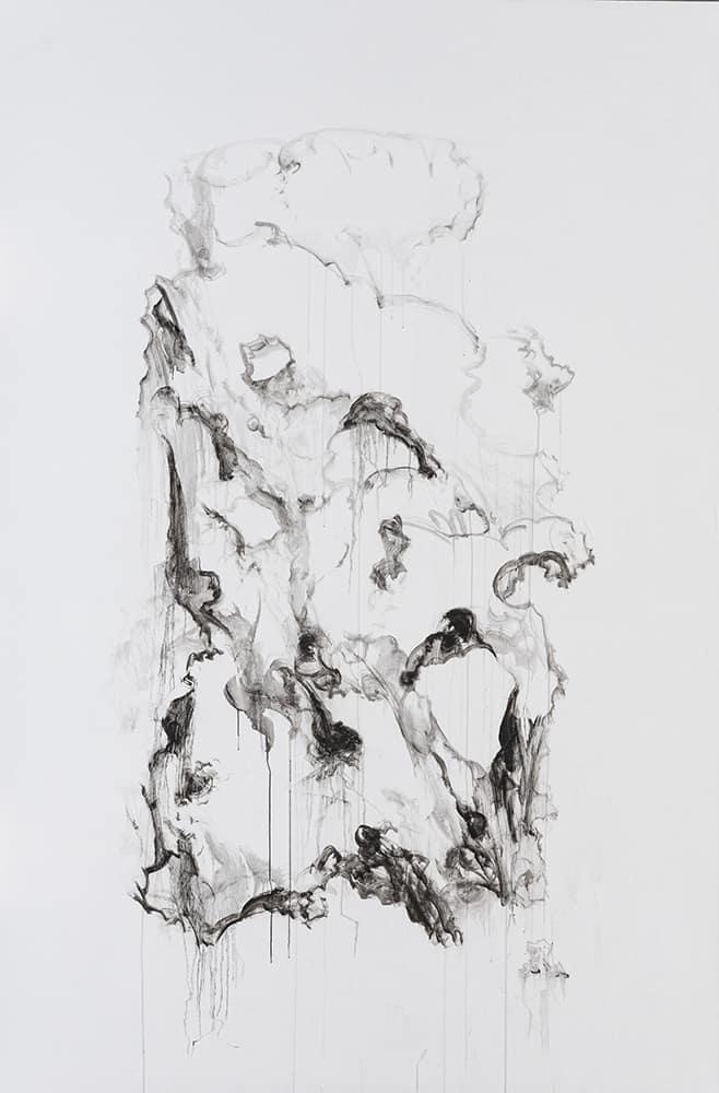 34- 40w 山石系列28号 2013  布面油画 200cm x 300cm  Garden Rock Series No.28_2013  oil on canvas  200cm x 300cm.jpg