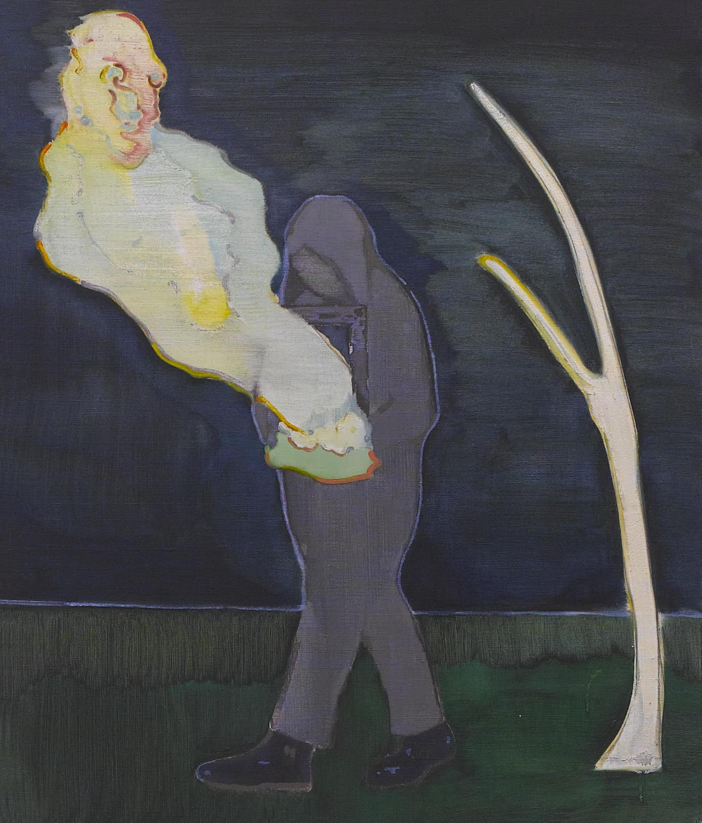 汪一 Wang Yi | 出殡者 A Person in the funeral 布面油画 Oil on canvas | 60 x 70 cm | 2018.jpg