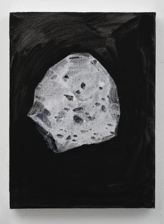 石至莹 Shi Zhiying 陨石1 Meteorite 1  布面油画 Oil on Canvas  40 x 30 cm  2018 - Courtesy the artist and WHITE SPACE BEIJING.jpg