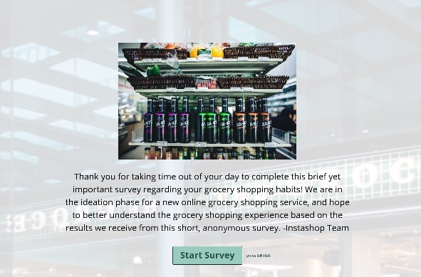 Survey about why people shop online