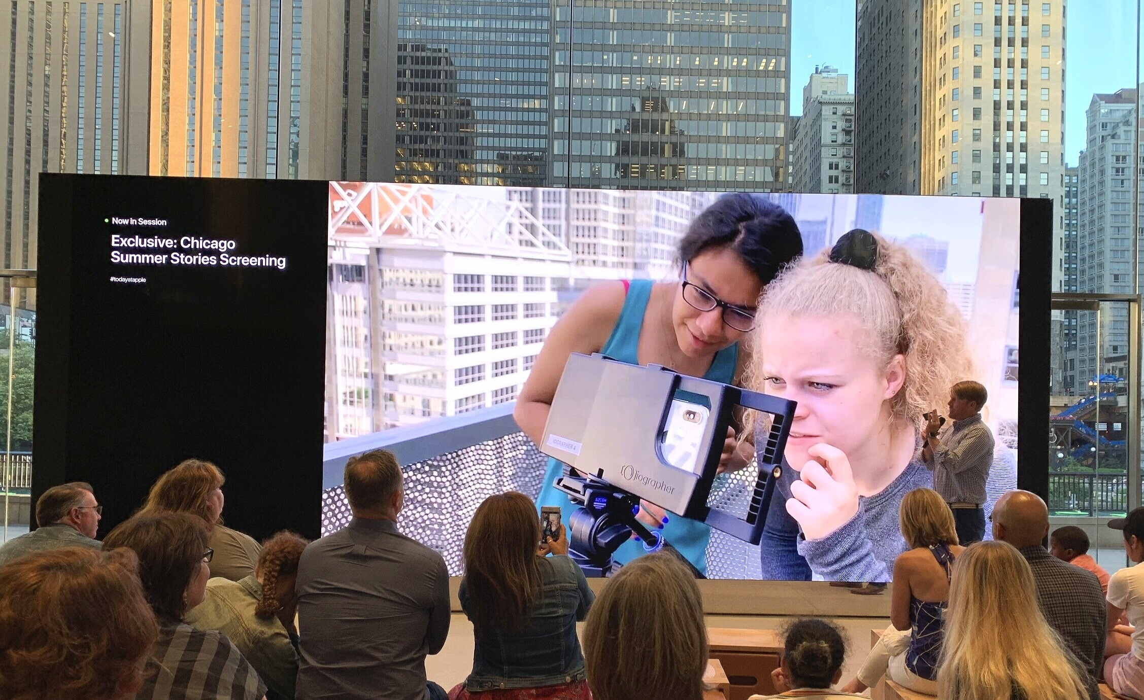 2019 Chicago Summer Stories screening at the flagship Apple store on Michigan Ave in Chicago!